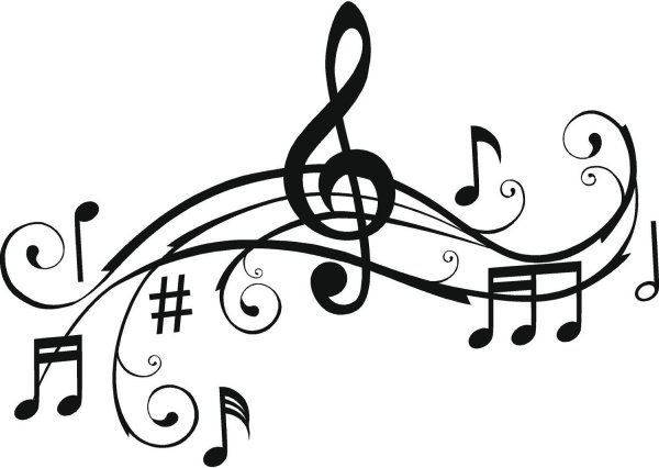 music notes musical clip