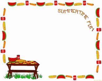 picnic border clip art