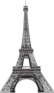 Eiffel Tower Black And White Clipart Clipartcow