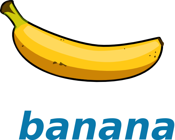 banana clipart 3 - clipartix