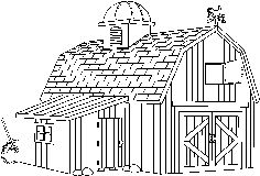 Barn Clip Art Black and White