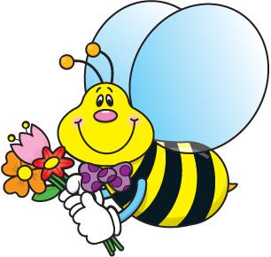 bumble bee honey cartoon