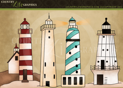 Country life graphics lighthouse clipart  Clipartix