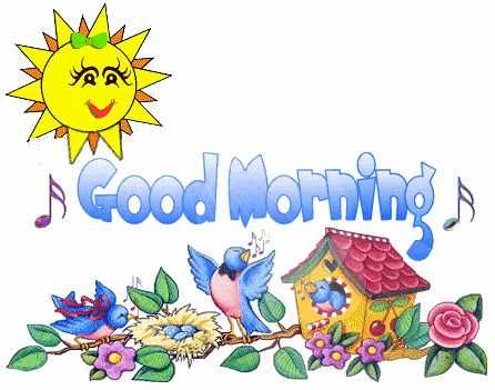 free good morning clipart