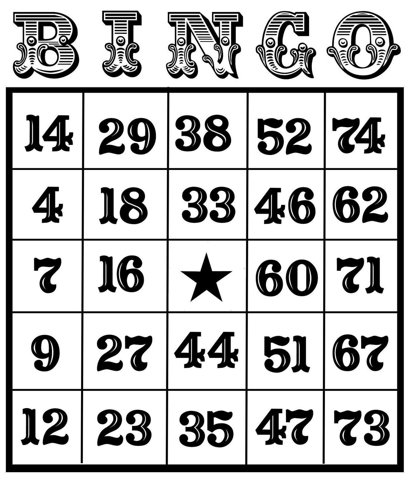 Christine Zani Bingo Card Printables To Share Clip Art