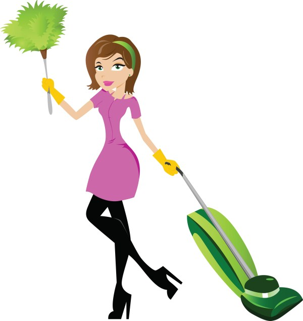 cleaning woman clipart free