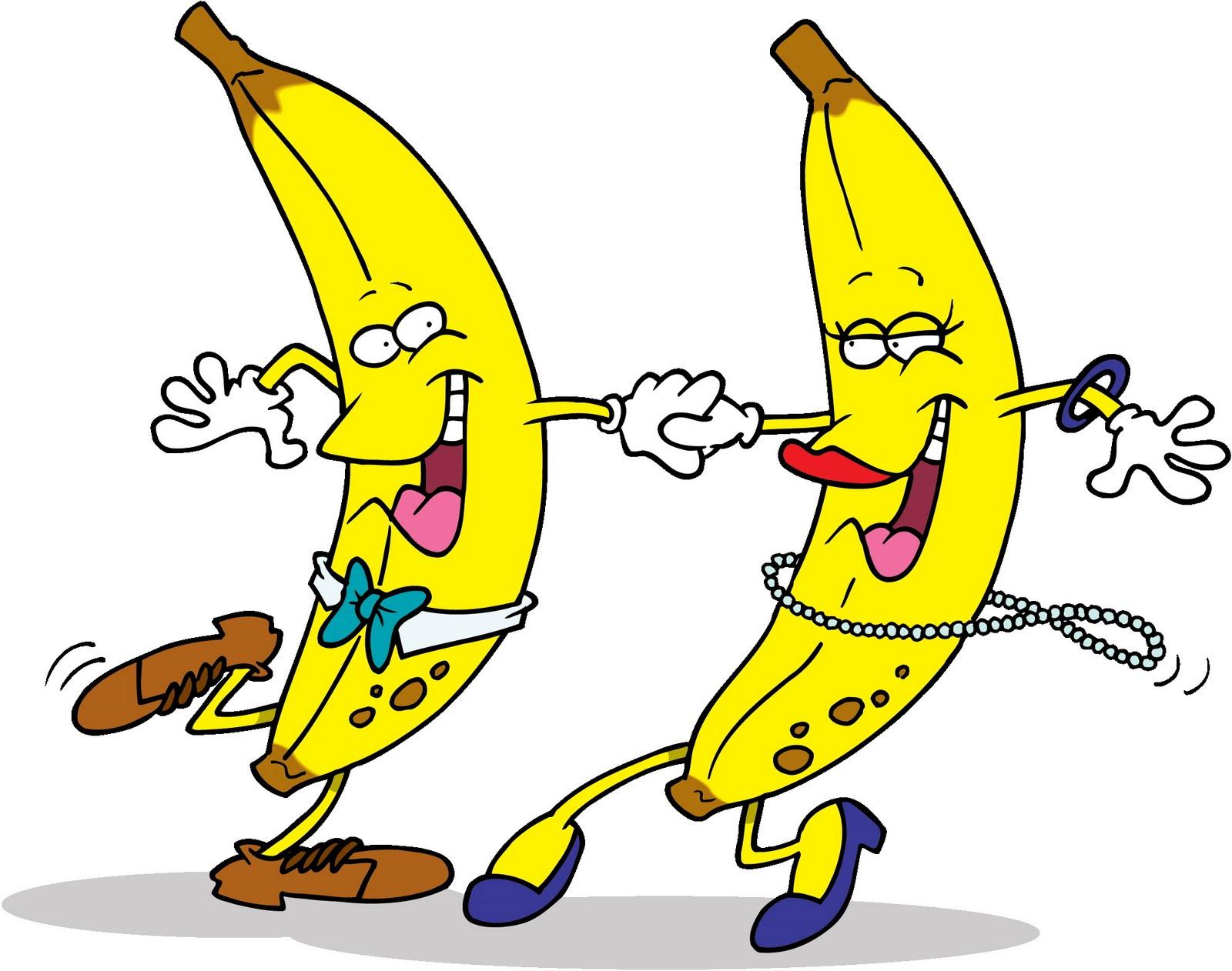 hight resolution of dancing banana funny clip art