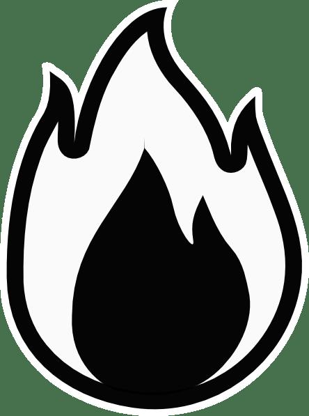 Flames flame outline clipart - Clipartix
