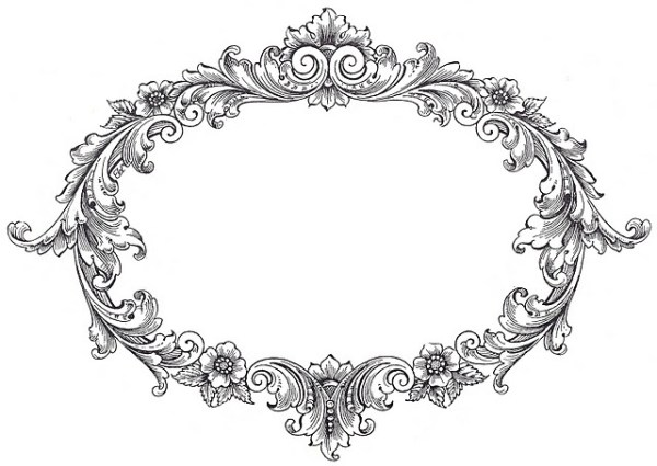 free vintage frame clip art