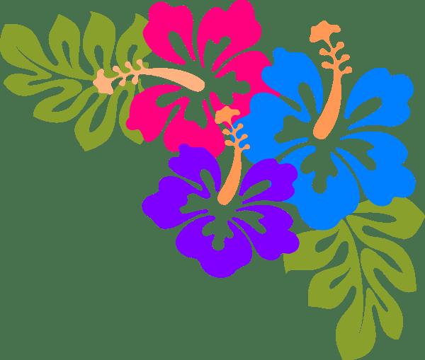 hawaiian luau word clipart
