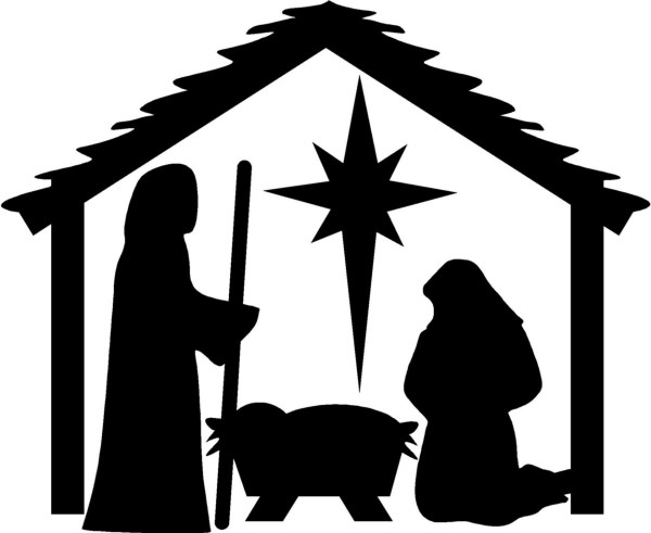 nativity silhouette patterns clipart