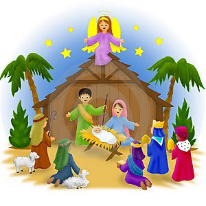 nativity free christmas clipart