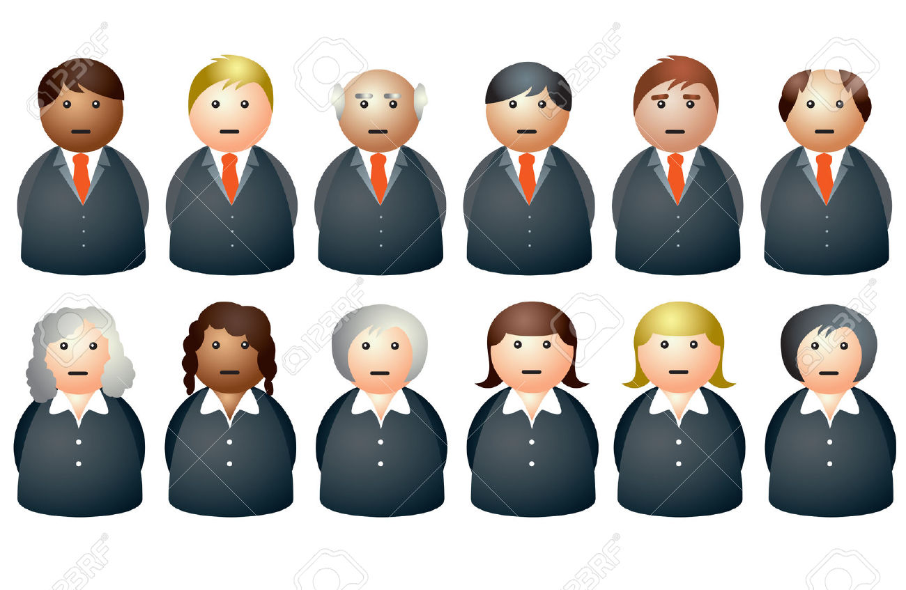 hight resolution of office business people clipart