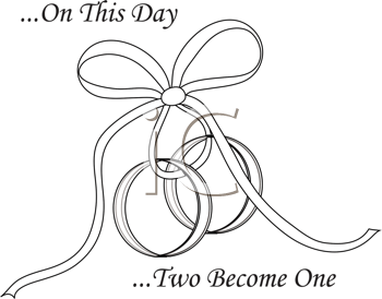 linked wedding rings clipart free