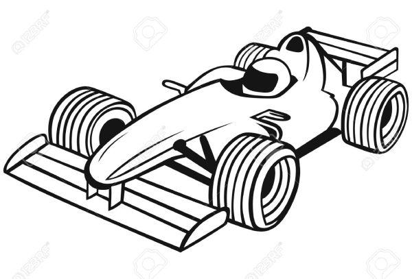 free race car clipart