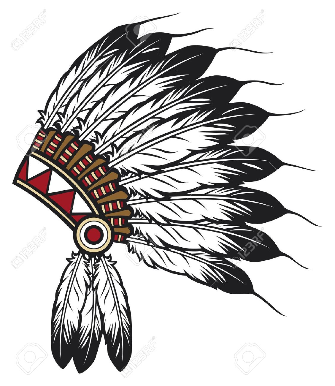 hight resolution of indian headdress clipart