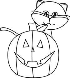 lantern jack clip cat clipart clipartix pumpkin face cartoon line