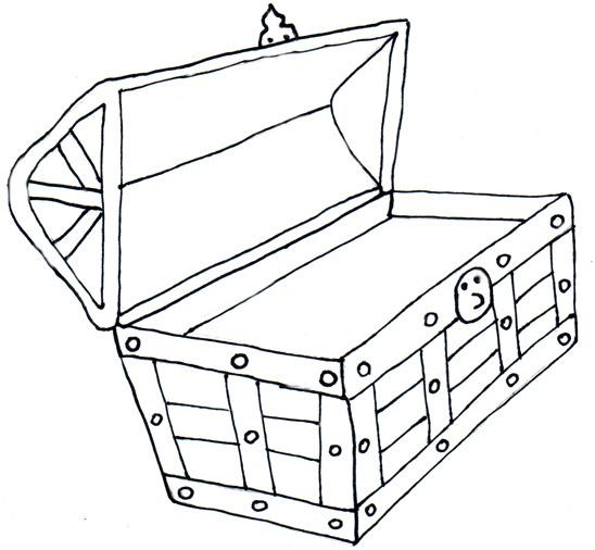 Treasure chest treasure black and white clipart clipart