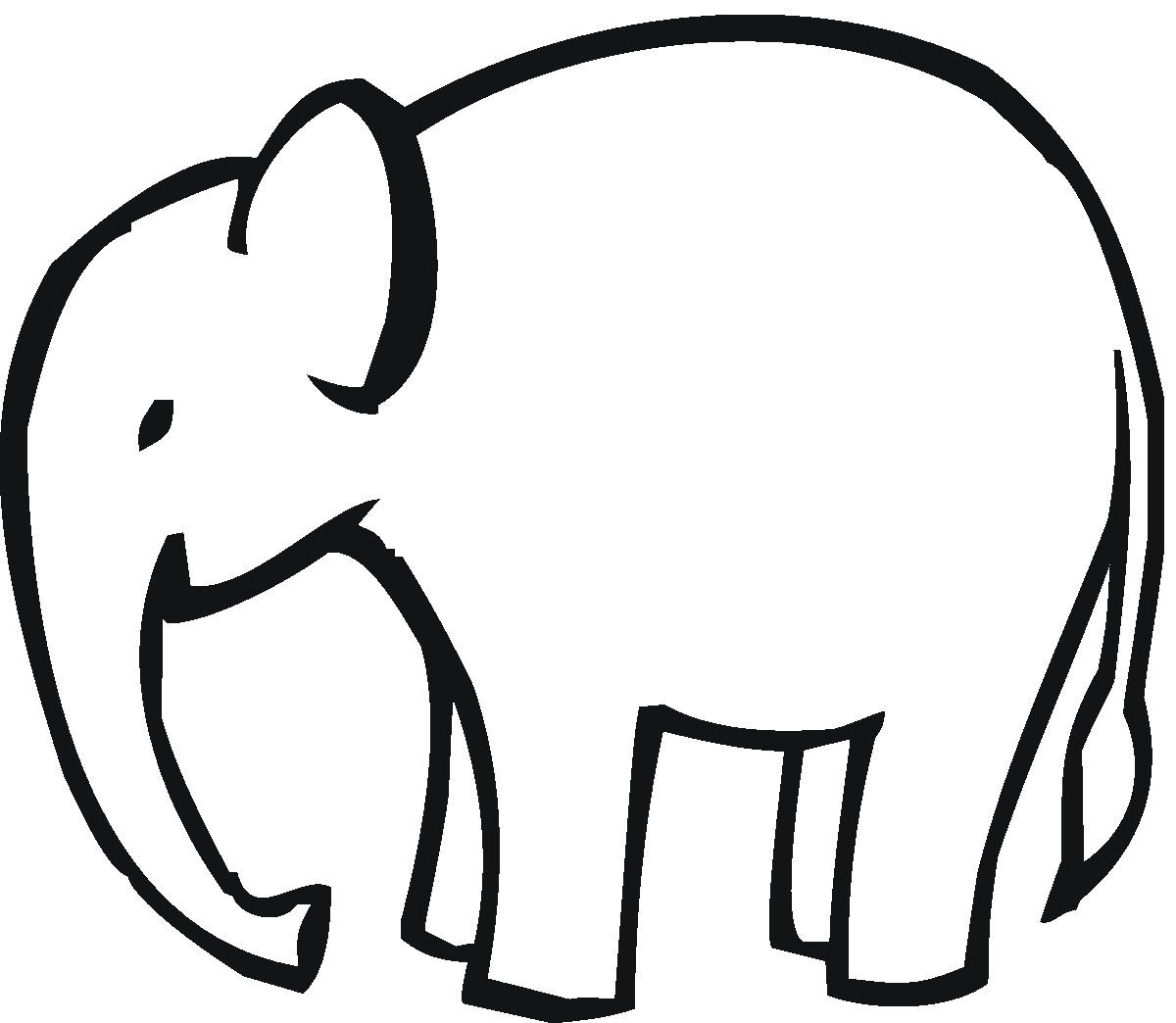 Baby Elephant Outline Clipart Clipart Kid