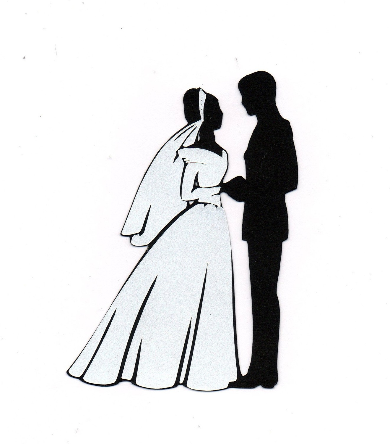 hight resolution of bride and groom clipart 7 bride and groom silhouette image 2