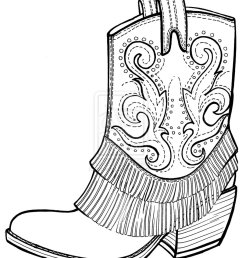 pics of black and white cowboy boots coloring pages cowboy clipart [ 900 x 1121 Pixel ]