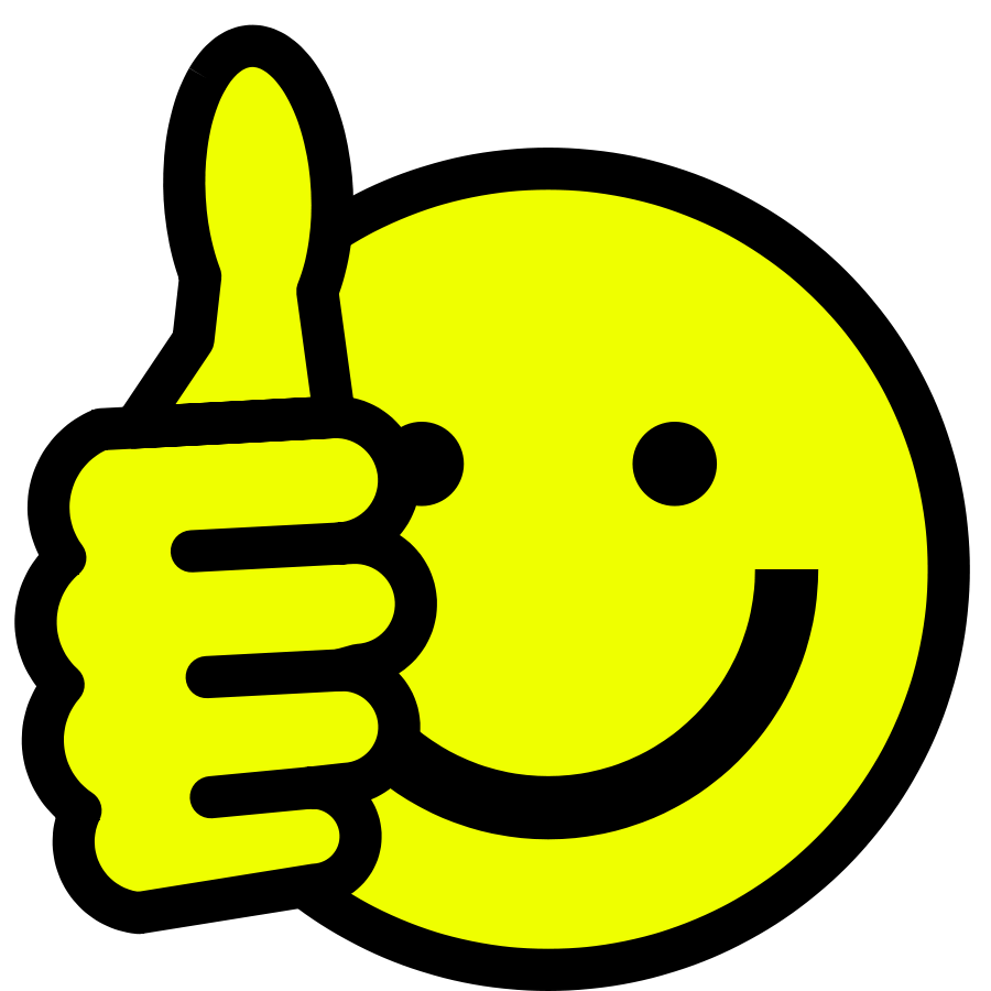 hight resolution of smiley face clip art thumbs up free clipart images 6