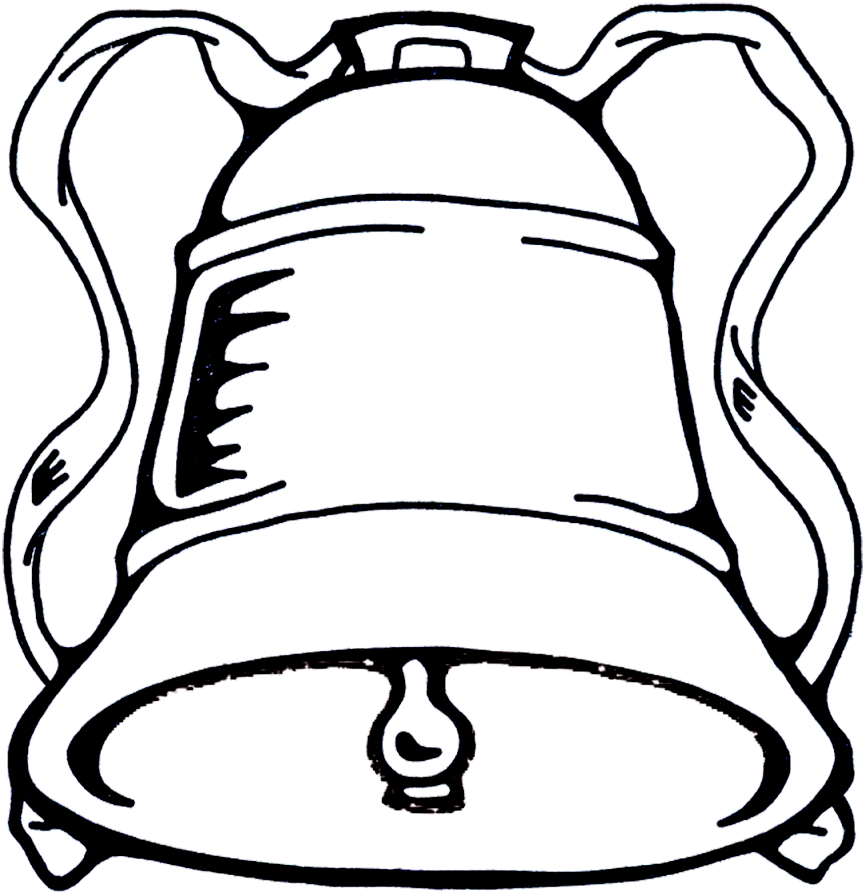 Bell Clip Art Black and White