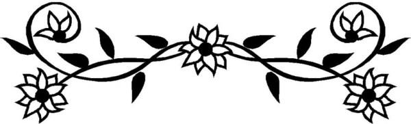 flower border flowers clip art