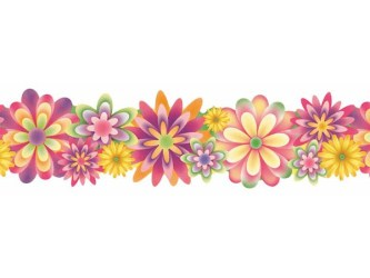 border flower clipart flowers clip borders horizontal spring line vertical clipartix kid cliparts vector library frame carnation pencil clipground
