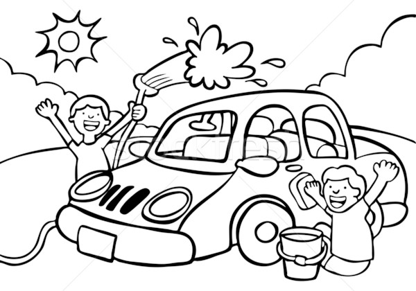 Car wash on car wash girls auto detailing and car cliparts