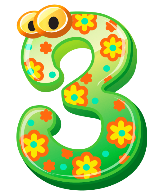 small resolution of numbers cute number three clipart image