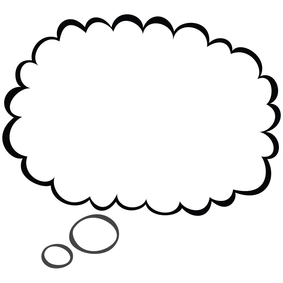 Printable Thought Bubbles Clipart