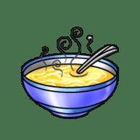 Bowl Of Chicken Noodle Soup Clipart