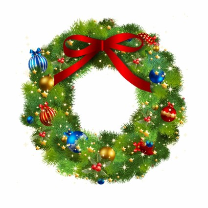 christmas wreath border clipart