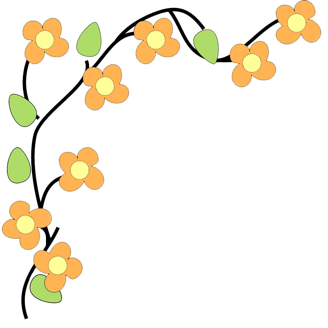 hight resolution of floral flower border clipart free images 2