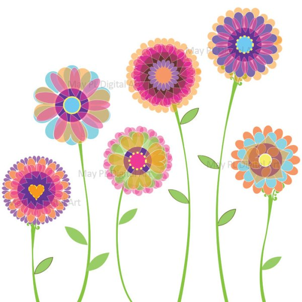 floral flower clipart free