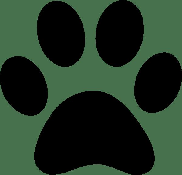 lion paw print clipart