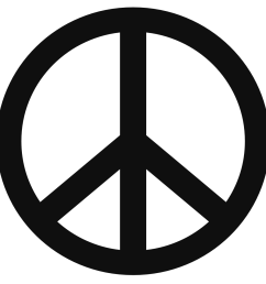 peace sign templates clipart [ 1111 x 1111 Pixel ]