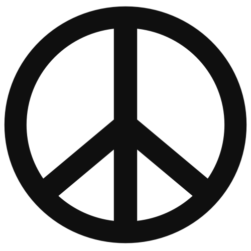small resolution of peace sign templates clipart