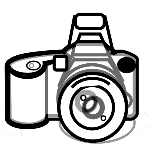 small resolution of photography camera clipart black and white free images