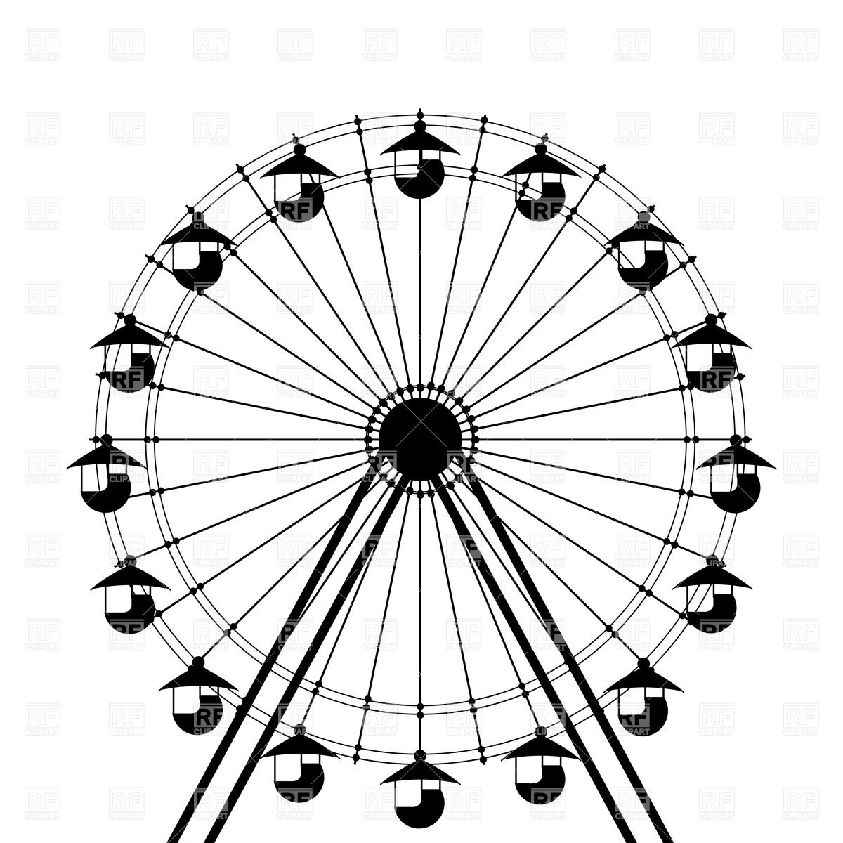 Free Ferris Wheel Clipart Pictures