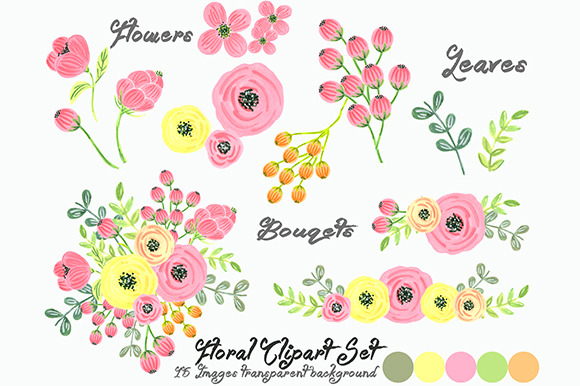 Orange Fall Peonies Wallpaper Wedding Floral Clipart Wreath Heart Illustrations On