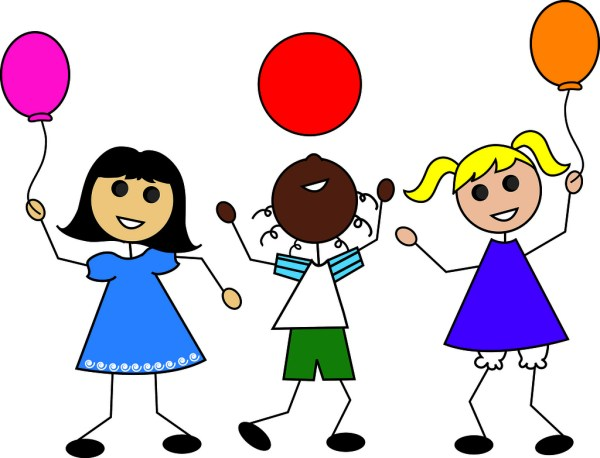free children playing clipart