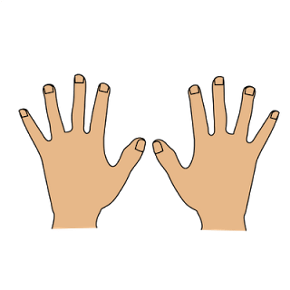 only 2 hands clipart