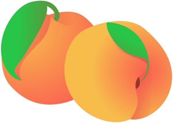 peach clip art free - clipartix