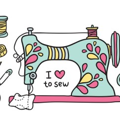 free clipart sewing machine [ 1400 x 980 Pixel ]