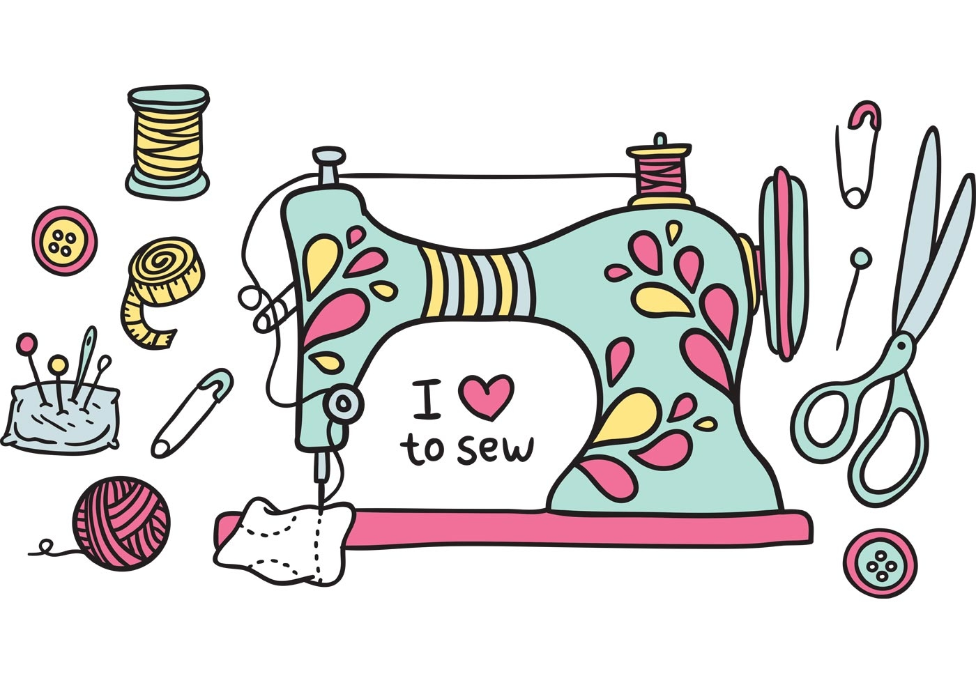 hight resolution of free clipart sewing machine