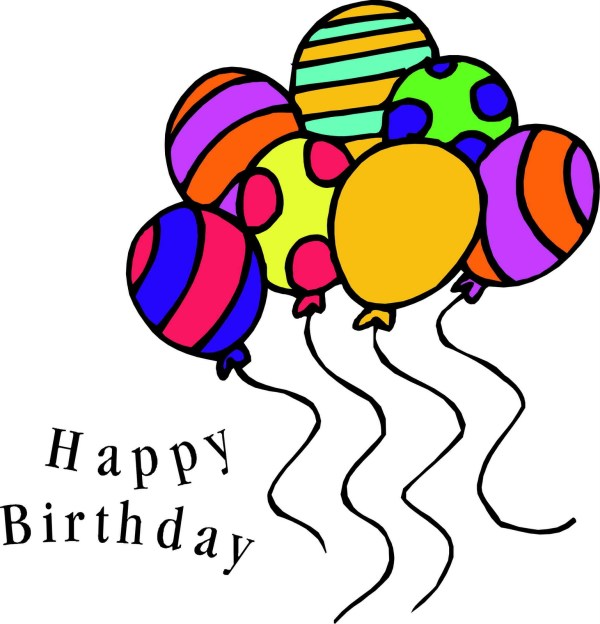 happy birthday balloons clipart