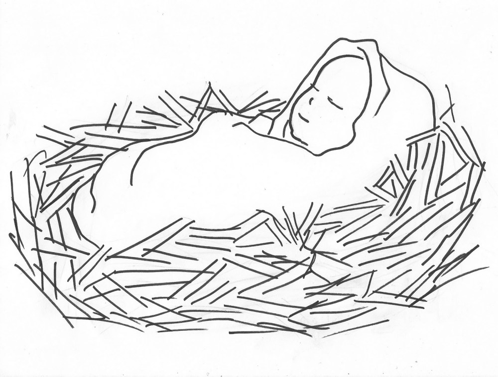 medium resolution of baby jesus clipart black and white