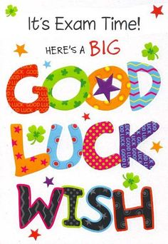 Good luck on your test clipart - Clipartix